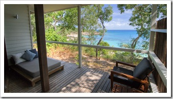 Our deck overlooking Sunset Beach