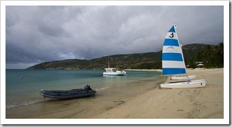Anchor Bay and the resort catamarans