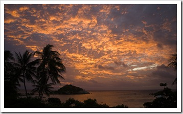 Anchor Bay sunset from the Lizard Island Resort dining room