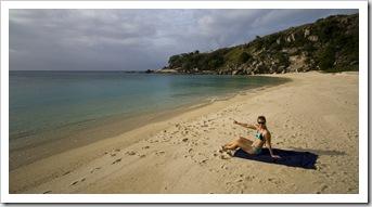 Lisa relaxing at Mermaid Bay