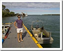 Lisa on the dock in Karumba