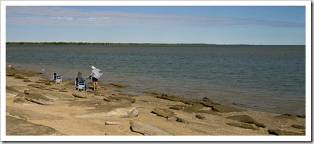 Grey nomads fishing in the Gulf of Carpentaria at Karumba Point