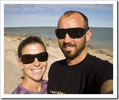 Sam and Lisa at the Gulf of Carpentaria at Karumba Point