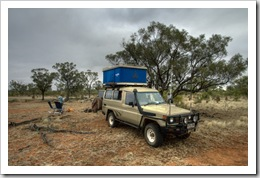 Camping on one of the cattle stations north of Cloncurry