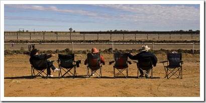 Onlookers at the Bedourie Camel Races
