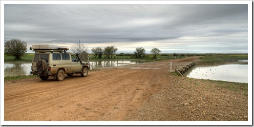 Crossing one of the many floodplains on the way into Birdsville