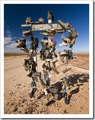 Road sign just north of Birdsville