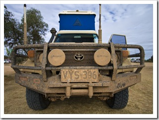 The Tank all muddy after her trip into Birdsville