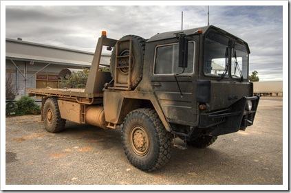 Simpson Desert recovery vehicle in Birdsville