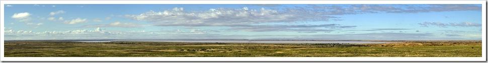 The massive expanse of Moonda Lake