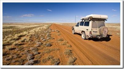 On our way through the Strzelecki Desert