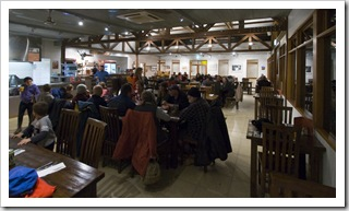The dining room at Innamincka Hotel