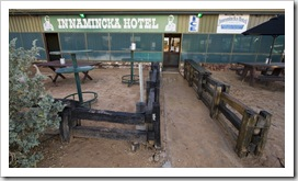 The Innamincka Hotel on Wednesday morning