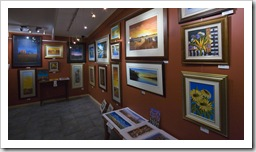 Inside one of the many art galleries in Silverton