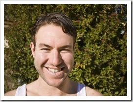 Todd and his new haircut