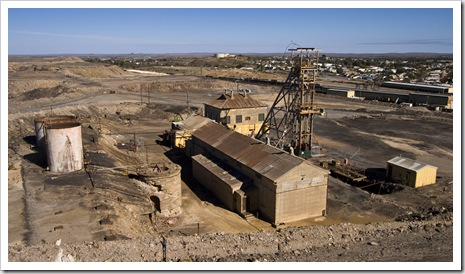 One of the Broken Hill mine shafts