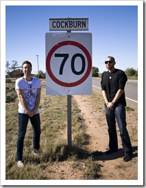 Sam and Todd on the way to Adelaide...