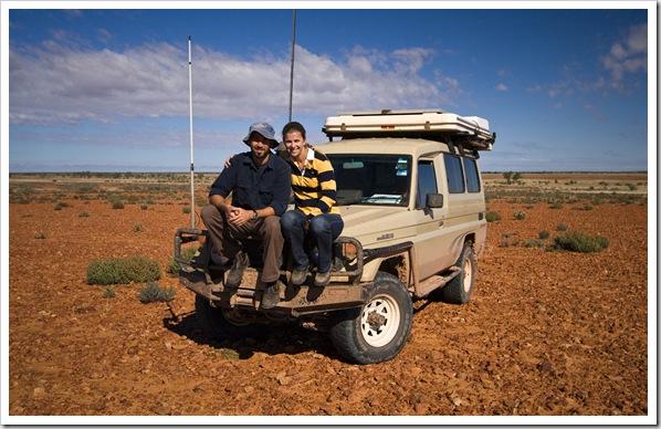 Sam, Lisa and The Tank in the Strzelecki Desert